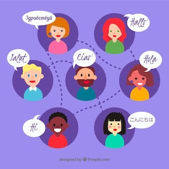 スピーチバブルによる言語概念