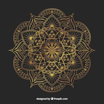 直線的なスタイルのエレガントな曼荼羅の背景