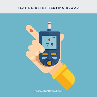 糖尿病のテスト血液の背景