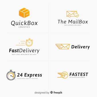 Коллекция шаблонов логотипа доставки