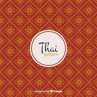 Роскошный тайский узор с золотым стилем