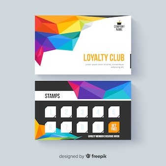 Современный шаблон карты лояльности с ярким стилем
