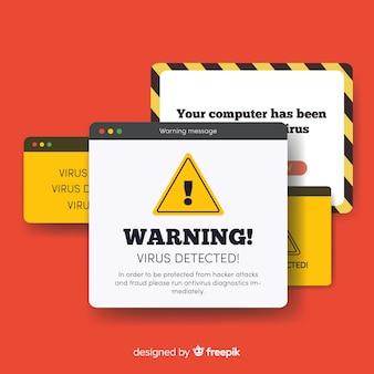警告ポップアップのバナーのコンセプト