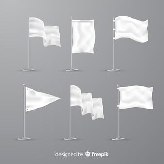 Коллекция бантов из белой ткани