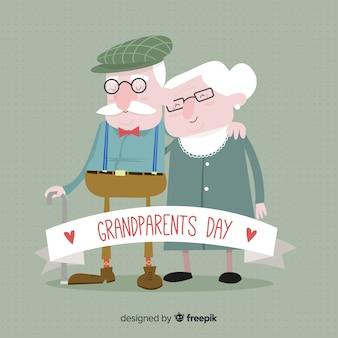 かわいい祖父母の日の背景