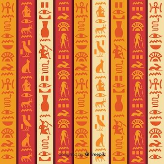 Египетский иероглифический узор фона