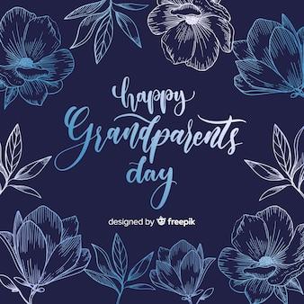 祖父母の日の構成とエレガントなレタリング