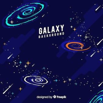 Прекрасный рисованный фон галактики