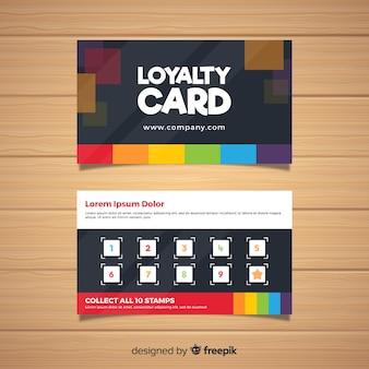Шаблон карты лояльности с абстрактным дизайном