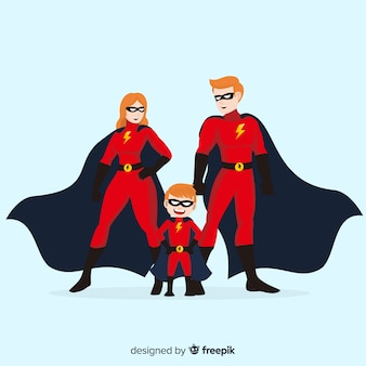 Набор смешных супергероев