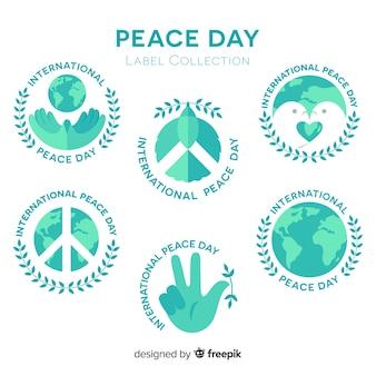 美しい平和の日のラベル
