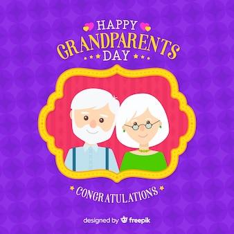 祖父母の日のフラットスタイルの背景