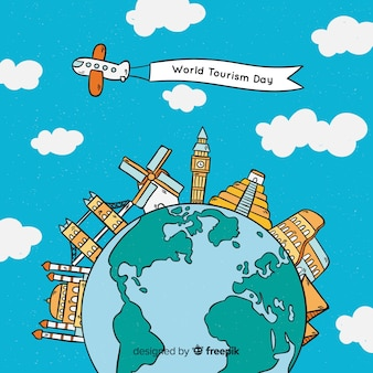 世界の観光の日の背景