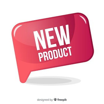 フラットデザインのカラフルな新製品構成