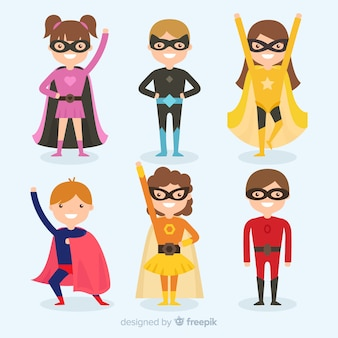 面白いスーパーヒーローのセット