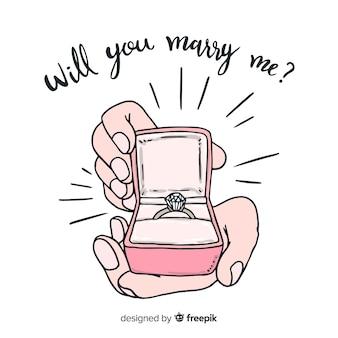 Прекрасная концепция брачного предложения