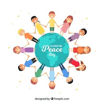 美しい平和の日の背景