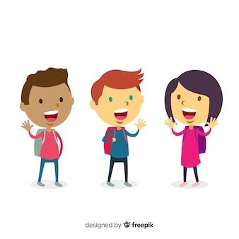 Счастливые школьники