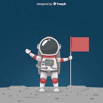 Симпатичный персонаж космонавта