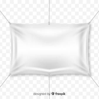 Реалистичный текстильный баннер