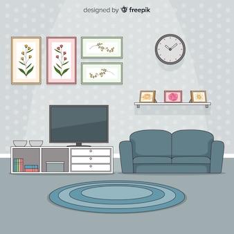 Дизайн интерьера современной гостиной ручной работы