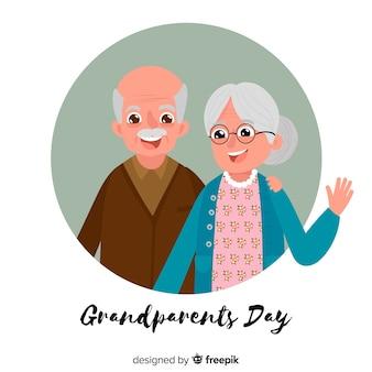 現代の祖父母の日の背景
