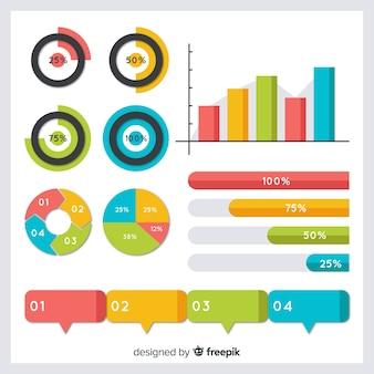 インフォグラフィックデザイン要素の収集