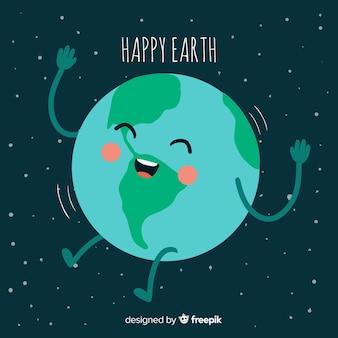 Прекрасная планета земля с ручным рисунком