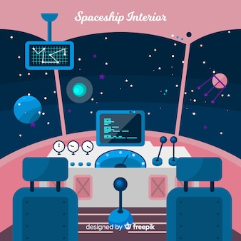 宇宙船のコックピットの背景