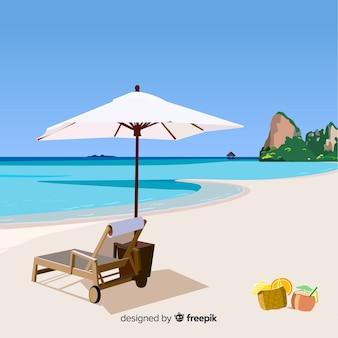 トロピカルビーチ風景の背景