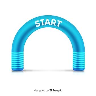 Надувная арка с реалистичной конструкцией