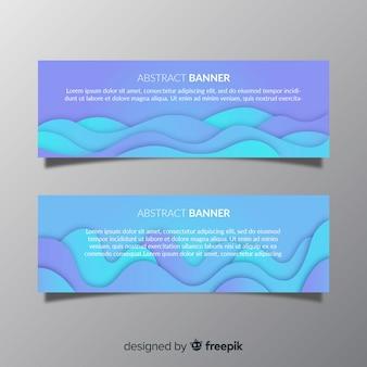 Современный пакет абстрактных баннеров с плоским дизайном