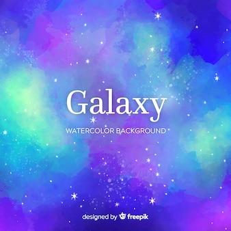 素敵な水彩銀河の背景