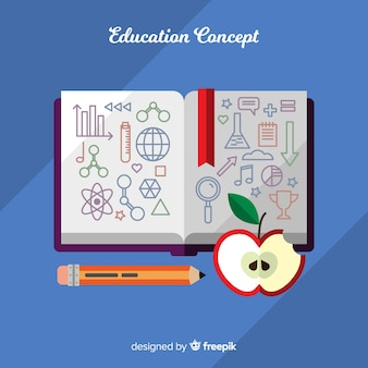 フラットデザインの素敵な教育コンセプト