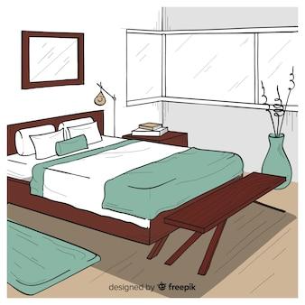 Ручной обрамленный уютный домашний интерьер
