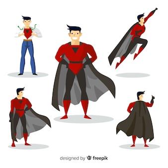 男性のスーパーヒーローコレクション