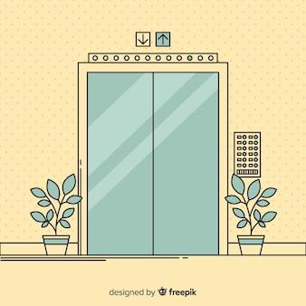 手描きのエレベーター