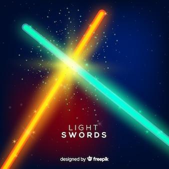 Современная композиция с двумя скрещенными мечами