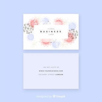 フラットデザインの素敵な花の名刺