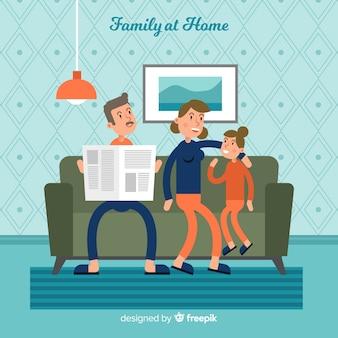 フラットなデザインの素敵な家庭