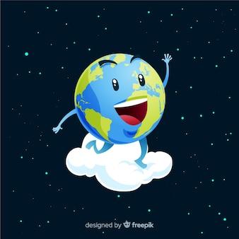 漫画スタイルの素敵な惑星地球