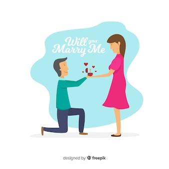 提案と愛のバックグラウンド