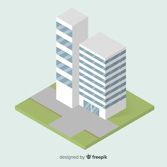 現代のオフィスビルの等角図