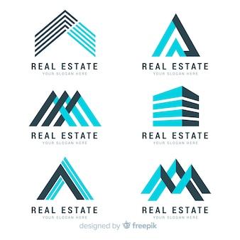 Современная коллекция логотипа недвижимости