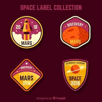 フラットデザインの素敵なスペースバッジコレクション