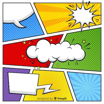 Красочный полутоновый комикс