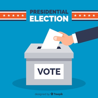 Состав президентских выборов с плоским дизайном