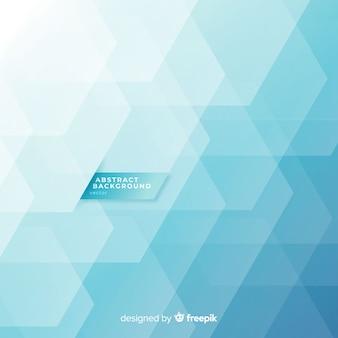 青色の幾何学的形状を持つ抽象的な背景