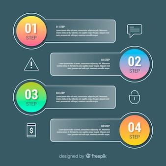Концепция градиентных инфографических шагов