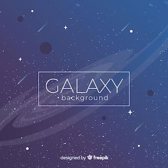 Современный фон галактики с красочным стилем